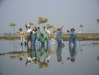 成龍溼地三代班每年四月舉辦的溼地環境藝術季,獲得極大迴響!