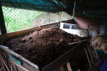 火炎山果園的堆肥