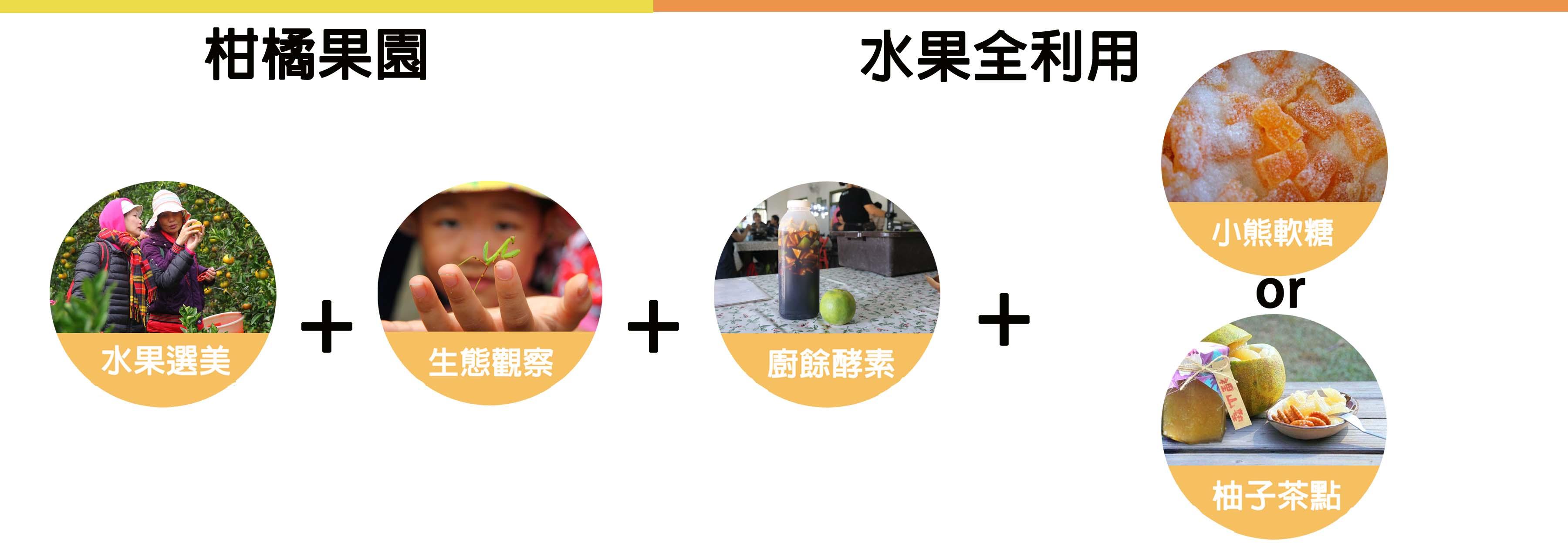 里山柑橘香課程結構圖